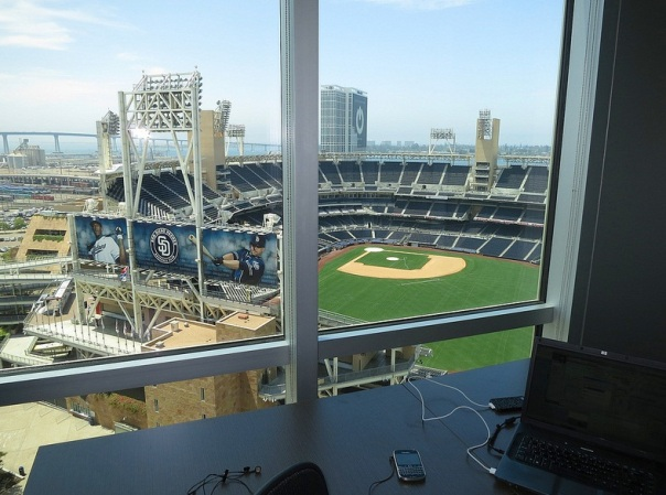 Imagine yourself here! Live Padres Baseball view from your Office